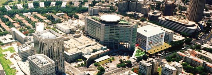 Больница Ихилов, вид с воздуха